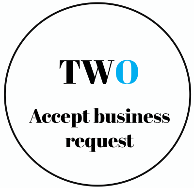 Step two: Accept a business request