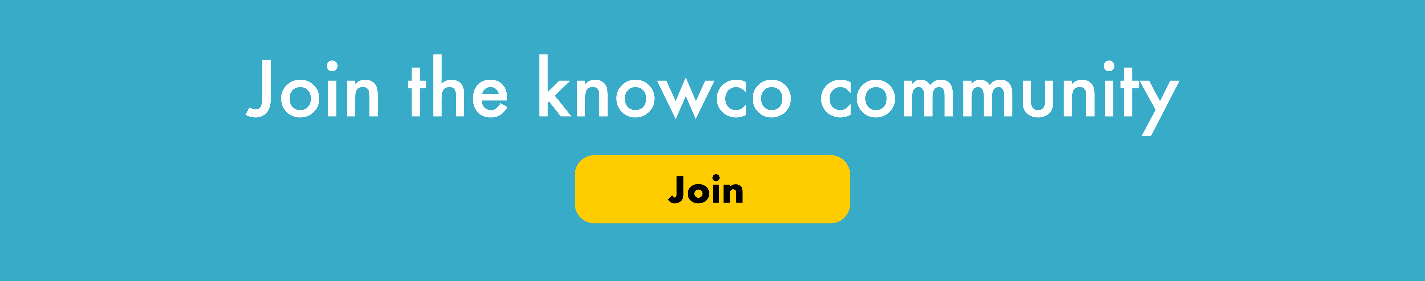Join the knowco community